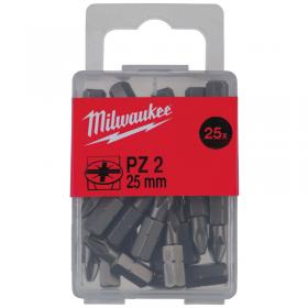 MILWAUKEE KOŃCÓWKA PZ2 x 25mm/25szt. Scr 4932399590