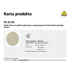 KLINGSPOR KRĄŻEK ŚCIERNY SAMOPRZYCZEPNY 125mm PS33CK gr. 60 /100szt. 147604