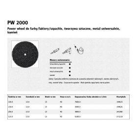 KLINGSPOR POWER WHEEL PW2000 150mm x 13mm x 13mm  WŁÓKNINA TWARDA 194626