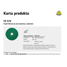 KLINGSPOR KRĄŻEK FIBROWY 125mm gr. 60 CS570 /25szt. 204095