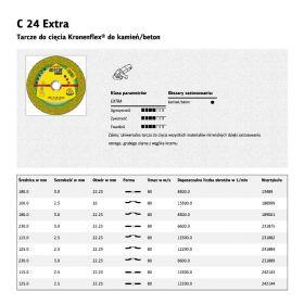 KLINGSPOR TARCZA DO CIĘCIA BETONU/KAMIENIA 180mm x 3,0mm  C24 Extra 231873