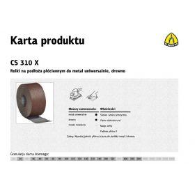 KLINGSPOR ROLKA NA PODŁOŻU PŁÓCIENNYM CS310X 200mm gr.100  (25mb) 265772
