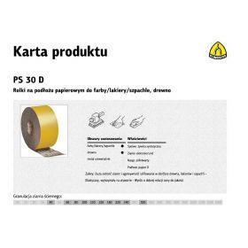 KLINGSPOR ROLKA NA PODŁOŻU PAPIEROWYM PS30D 150mm gr. 60  (50mb) 267033