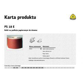 KLINGSPOR ROLKA NA PODŁOŻU PAPIEROWYM PS18E 150mm gr. 80  (50mb) 267274