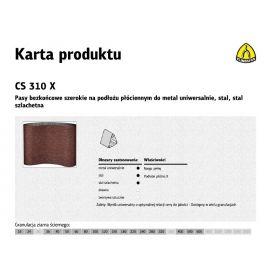 KLINGSPOR PASY BEZKOŃCOWE SZEROKIE CS310X 75mm x 2000mm gr. 80 /10szt. 268549