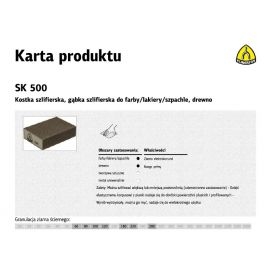 KLINGSPOR KOSTKA SZLIFIERSKA 100x70x25mm P150 SK500 271075