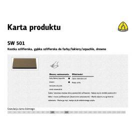 KLINGSPOR GĄBKA SZLIFIERSKA 123 x 96 x 12,5mm P 80 SW501 271081