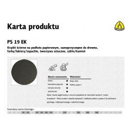 KLINGSPOR KRĄŻEK ŚCIERNY SAMOPRZYCZEPNY 125mm  PS19EK gr.120 /50szt. 306775