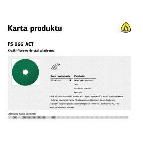KLINGSPOR KRĄŻEK FIBROWY 125mm gr. 60  FS966 /25szt. 316496