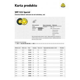 KLINGSPOR ŚCIERNICA LISTKOWA WYPUKŁA SMT925 SPECIAL 125mm gr. 36 321718