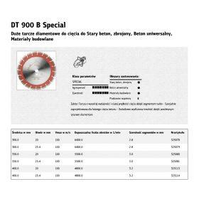 KLINGSPOR TARCZA DIAMENTOWA SEGMENTOWA 350mm x 3,0mm x 20mm   DT900B 325080