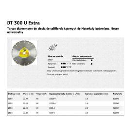 KLINGSPOR TARCZA DIAMENTOWA SEGMENTOWA 180mm x 2,0mm x 30mm  DT300U 325347