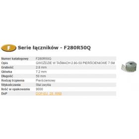BOSTITCH GWOŹDZIE F 2,80 x 50mm RING 9000szt.  F280R50Q
