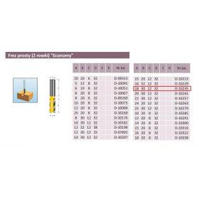 MAKITA FREZ PROSTY 2 ROWKI 18/30/12mm D-10235