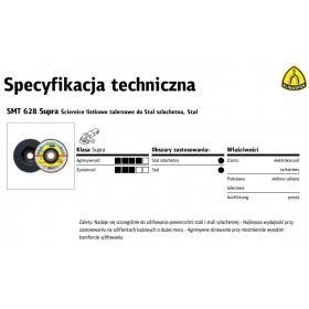 KLINGSPOR ŚCIERNICA LISTKOWA WYPUKŁA SMT628 SUPRA 125mm gr. 80 322799