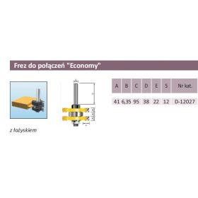 MAKITA FREZ DO POŁĄCZEŃ 41/2x 6,35/12mm ECONOMY D-12027