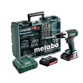 METABO WIERTARKO-WKRĘTARKA 18V 60/34Nm 2x2,0Ah LI-ION + 74szt. OSPRZĘTU BS 18 LT SET 602102600