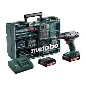 METABO WIERTARKO-WKRĘTARKA 14,4V 40/20Nm 2x2,0Ah LI-ION + 74szt. OSPRZĘTU BS 14.4 SET 602206880