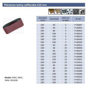 MAKITA PASY BEZKOŃCOWE 100 x 610mm gr. 240  5szt. P-36946