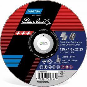 NORTON TARCZA STARLINE DO METALU 125x1.0x22.23-T41 A60R 66252837245