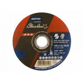 NORTON TARCZA STARLINE DO METALU 125mm x 1.6mm x 22.22mm -T41 A46R 66252837246