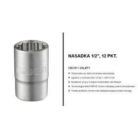 """STANLEY NASADKA 12-KĄTNA 1/2"""" 28mm MAT 1-17-070"""