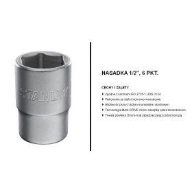 """STANLEY NASADKA 6-KĄTNA 1/2"""" 11mm 1-17-089"""