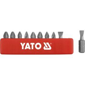 YATO KOMPLET KOŃCÓWEK / BITÓW 25mm 10szt. MIX PŁASKIE/PH/PZ  YT-0482