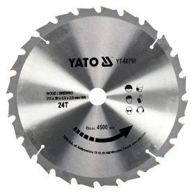 YATO PIŁA TARCZOWA WIDIOWA 315x30mm  24-ZĘBY  YT-60790