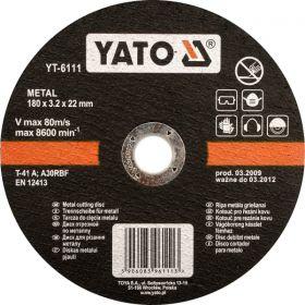YATO TARCZA METALU 125x3,2x22mm   YT-6110