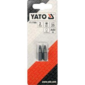 """YATO KOŃCÓWKA 1/4""""x25mm PZ1 /2szt. YT-77880"""