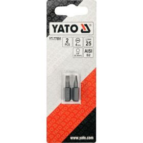 "YATO KOŃCÓWKA 1/4""x25mm PŁASKA 4mm /2szt. YT-77891"