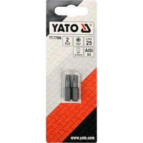 """YATO KOŃCÓWKA 1/4""""x25mm TORX T27 /2szt. YT-77906"""