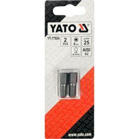 """YATO KOŃCÓWKA 1/4""""x25mm HEX H8 /2szt. YT-77924"""