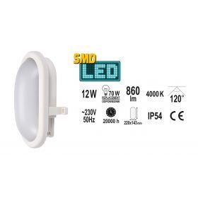YATO LAMPA NAŚCIENNA OWALNA LED 12W 860LM YT-81835