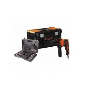 BLACK+DECKER WIERTARKA UDAROWA 710W+ AKCESORIA 80 elem. SKRZYNKA BEH710KA80-QS