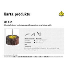 KLINGSPOR ŚCIERNICA LISTKOWA TRZPIENIOWA KM613  80mm x 50mm x 6mm gr.150 13181