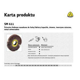 KLINGSPOR ŚCIERNICA LISTKOWA NASADZANA SM611 165mm x 25mm gr.120 275139
