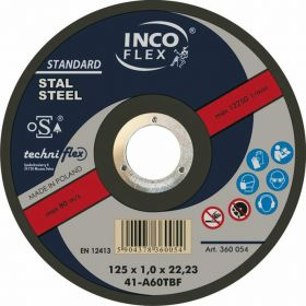 INCOFLEX TARCZA METAL SZLIFIERSKA 125*6,5 M275-125-6.5-22A24S