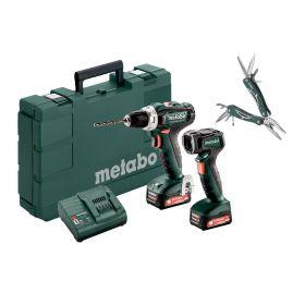 METABO WKRĘTARKA BS 12 BL + LATARKA ULA 12 + MULTITOOL 601036900+MT
