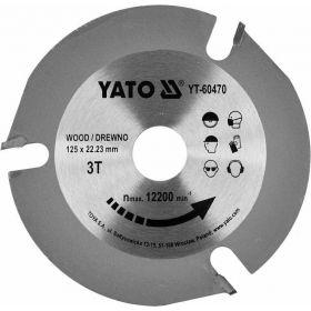 YATO TARCZA DO CIĘCIA DREWNA TCT 125mm*22*3z YT-60470