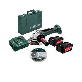 METABO SZLIFIERKA KĄTOWA 18V 125mm WB 18 LTX BL 125 QUICK 2x5,2Ah + TARCZE 125x1 10szt. PL_SP30613077650