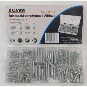 SILVER SPRĘŻYNKI 200szt. MIX 11365