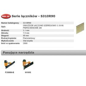 BOSTITCH GWOŹDZIE WW 28` 3,1 x 90mm RING 2000 szt. S310R90