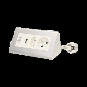 ORNO PRZEDŁUŻACZ BIURKOWY Z USB OR-AE-1328