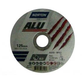 NORTON TARCZA VULCAN DO ALUMINIUM 125mm x 1.0mm x 22.2mm -T41  A60Q 66252828237