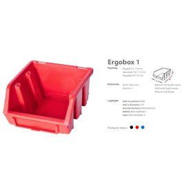 PATROL ERGOBOX 1 CZERWONY, 116 x 112 x 75mm ERG1CZEPG001
