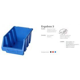 PATROL ERGOBOX 3 NIEBIESKI, 170 x 240 x 126mm ERG3NIEPG001