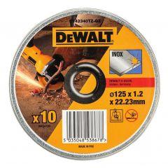 DEWALT ZESTAW TARCZ DO METALU 125x1,2mm 10sz. INOX DT42340TZ-QZ