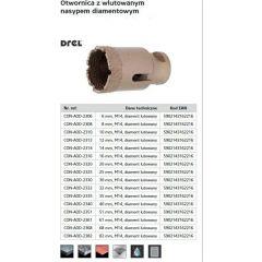 DREL WIERTŁO DO GRESU M14 25mm CON-AOD-2325